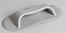 Highfield moulded handle / seat holder PVC