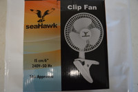 Sea Hawk Clip fan 6""