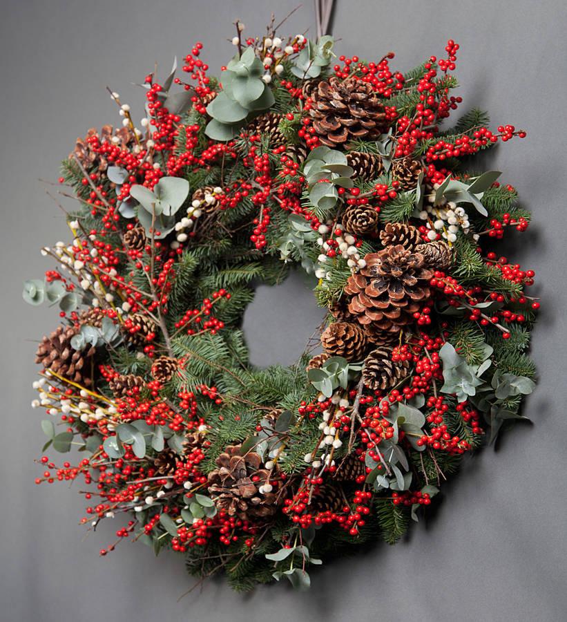 Christmas Door.December Christmas Door Wreath Workshops
