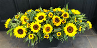 Sunflower Coffin Spray