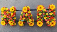 Vibrant colours and flowers create this beautiful Nan tribute x