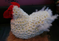 3D Chicken created entirely from fresh flowers x