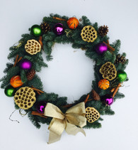 Luxury contemporary door wreath - call us for different colours and options! X