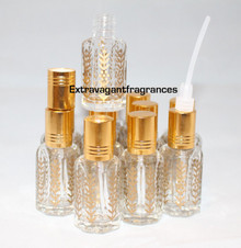 1 dozen 12ml Imported Bottles Dipstick Gold Cap for Essential or Fragrance