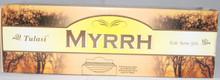 Tulasi Myrrh Incense sticks 4 X 8 STICK PACKS + 1 FREE INCENSE HOLDER