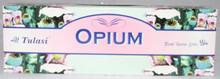 Tulasi Opium Incense sticks 4 X 8 STICK PACKS + 1 FREE INCENSE HOLDER