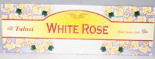 Tulasi White Rose Incense sticks 4 X 8 STICK PACKS + 1 FREE INCENSE HOLDER