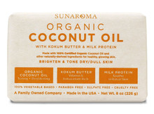 Organic Coconut Oil Kokum Butter Soap 8oz Big Bar x 3 Bars