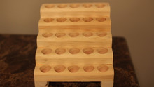 Mini 1/3 or 1/8 plain roll-on Body oil Rack - 25 holes