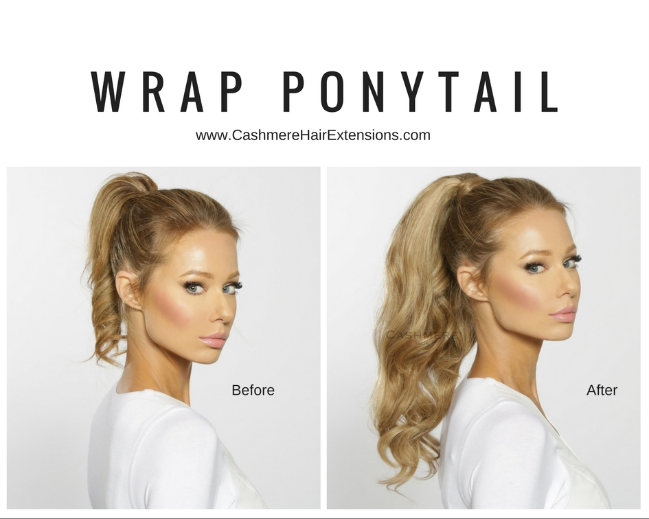clip on wrap ponytail extension