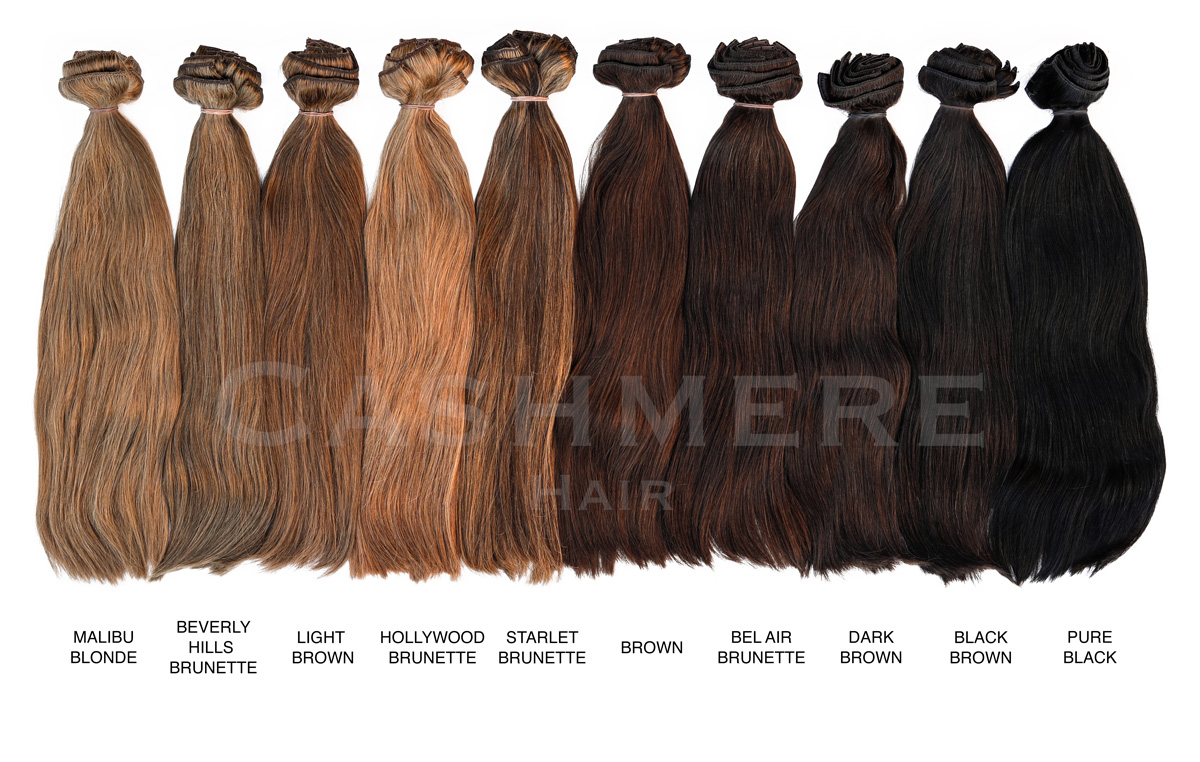 brunettes hair extensions color chart