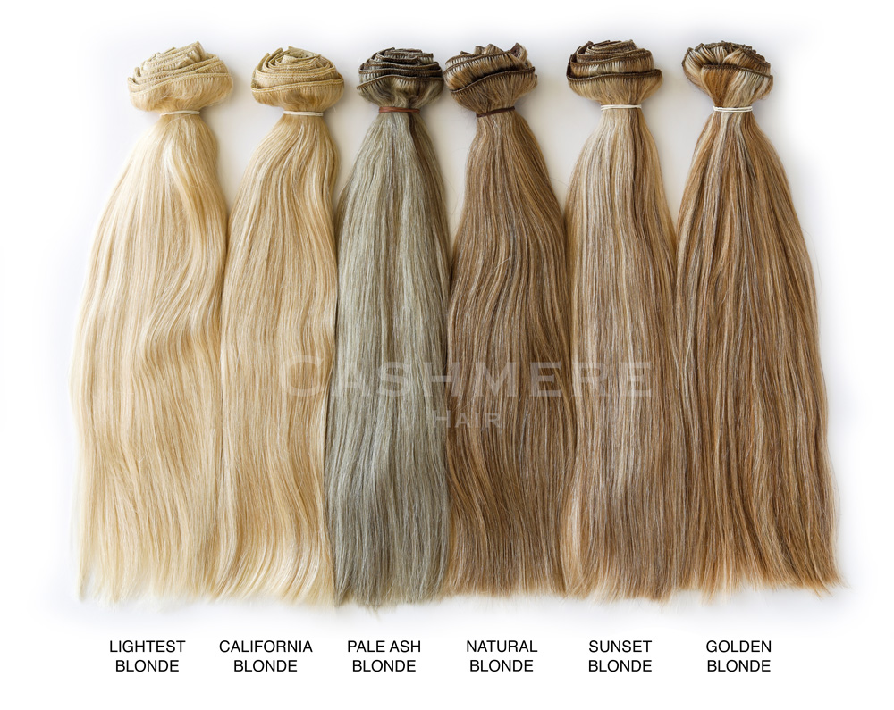 blonde hair extensions color chart