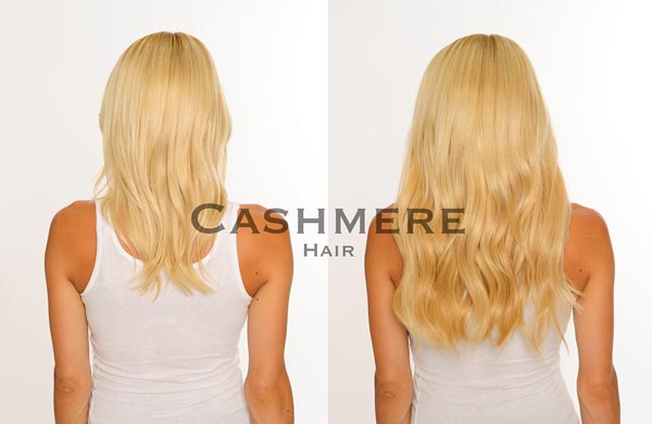 Cashmere Hair Before and after picture