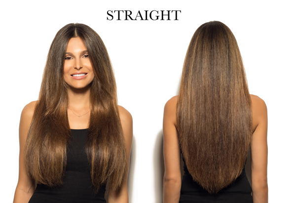 Straight Cashmere Hair clip in hair extensions