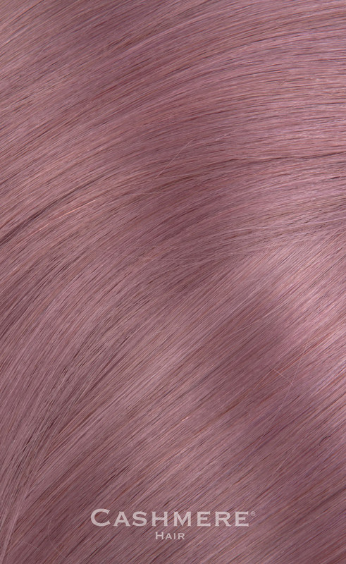 "18"" Lavender Peek-A-Boo Clip In Cashmere Hair Extensions"