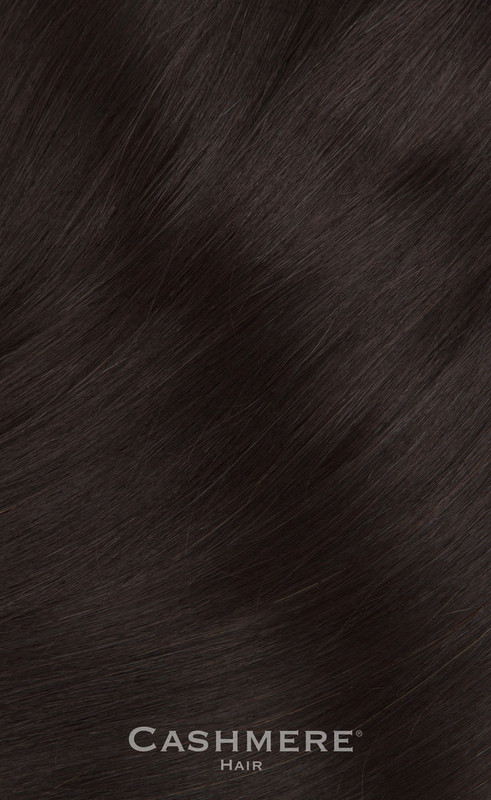 Cashmere Hair Black Brown Clip In Hair Extensions
