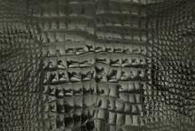 Alligator Skin Belly Glazed Charcoal 25/29 cm Grade 4