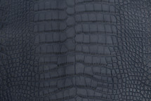 Alligator Skin Belly Matte Navy 30/34 cm Grade 4