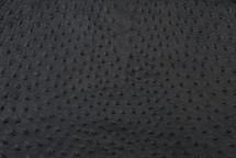 Ostrich Skin Garment Black