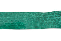 Belt Strip Crocodile Flank Glazed Emerald