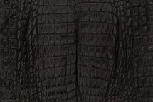 Caiman Skin Belly Matte Black - XL