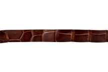 Belt Strip Alligator Glazed Cognac