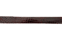 Belt Strip Alligator Glazed Burgundy 38 mm