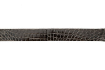 Belt Strip Alligator Glazed Grey 38 mm