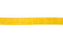 Belt Strip Alligator Matte Yellow 38 mm