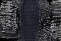 Caiman Skin Hornback Glazed Navy