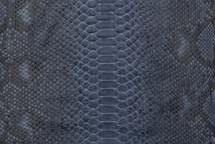 Python Skin Diamond Back Cut Unbleached Matte Indigo