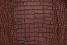 Alligator Skin Belly Matte Saddle 30/34 cm Grade 4
