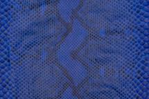 Python Skin Diamond Front Cut Unbleached Matte Cobalt