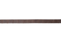 Belt Strip Alligator Matte Brown 43 mm