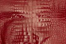 Alligator Skin Belly Glazed Red 30/34 cm