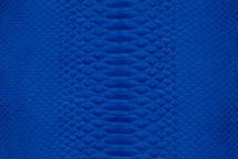 Python Skin Suede Cobalt