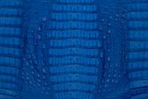 Caiman Skin Hornback Matte Cobalt