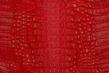 Caiman Skin Hornback Matte Red