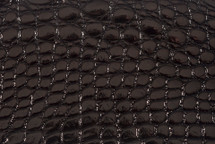 Alligator Flank Skin Glazed Black