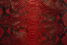 Python Skin Diamond Back Cut Unbleached Matte Red