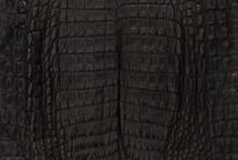 Caiman Skin Belly Matte Black - XS