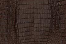 Caiman Skin Belly Matte Brown - XS