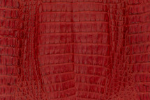Caiman Skin Belly Matte Red - XS
