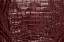 Alligator Skin Belly Matte Burgundy 65+ cm Grade 4