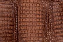 Caiman Skin Hornback Matte Saddle