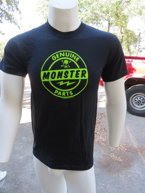 Genuine Monster Parts artwork by Kruse appears on front in all of its vibrant green glory.