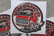 Vinvanco 70's customized Ford Econoline van sticker