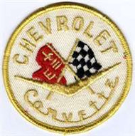 Vintage Chevrolet Corvette Cloth Patch