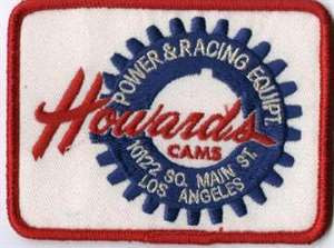 Howards Cams, Power & Racing Equipt. - 10122 So. Main St. Los Angeles Reproduction Embroidered Patch