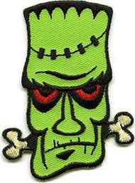 "Chico Von Spoon Frank The Crank Embroidered Patch, 2 3/4"" High with iron on backing."